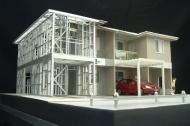 Casa Steel Frame em Curitiba - construção do segundo pavimento em steel frame